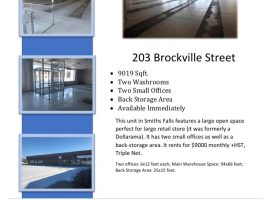 9000sqft Commercial Unit in Smiths Falls