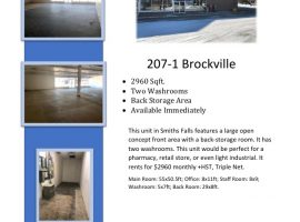 Large Open Concept Commercial Space in Smiths Falls