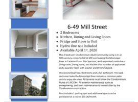 2 Bedroom Condominium in Carleton Place